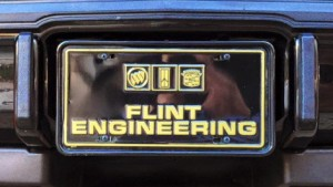 flint engineering license plate