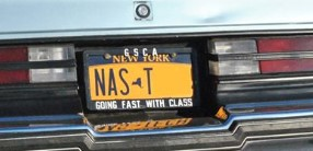 nasty buick license plate