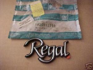 1978 regal script emblem