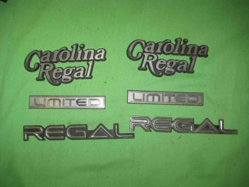 1984 buick regal limited carolina emblems