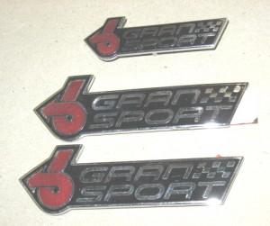 3 gran sport emblems