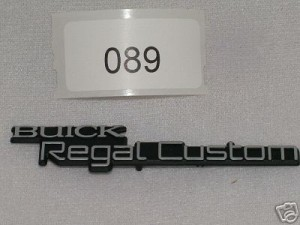88-96 buick regal custom emblem