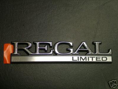 Buick Regal Limited Emblem on 1984 Buick Lesabre Limited