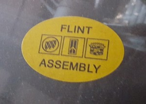 flint assembly sticker