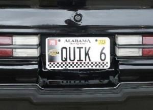 buick GN quik 6 alabama plate
