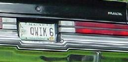 qwik 6 buick plate