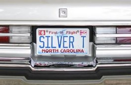 silver buick regal T license plate