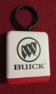1970s Buick Factory Key Fob Type 7 with secret compartment