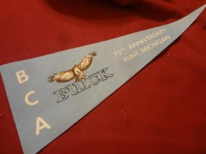 Buick 75th Anniversary Banner from 1978 Buick Club of America Flint Michigan
