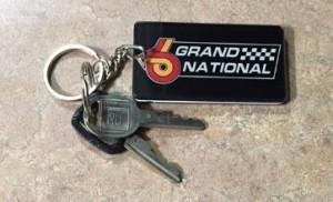 buick grand national logo key chain