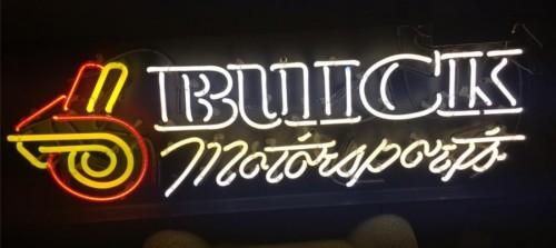 buick motorsports neon sign