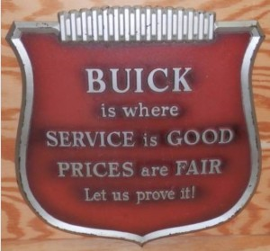 buick service shield sign