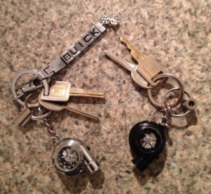 buick turbocharger keychains