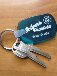 folgers buick dealer keychain