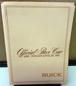 1983 Buick Riviera Indy 500 Official Pace Car Press Kit Media Release 1