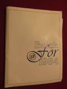 1984 Buick Press Kit 1