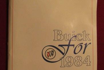 1984 Buick Media Press Kit