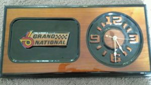BUICK GRAND NATIONAL LOGO WALL CLOCK