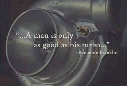 a man is good as turbo