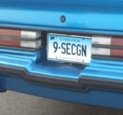 9 sec gn license plate
