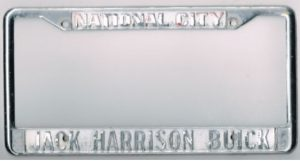 Jack Harrison Buick Dealer License Plate Frame