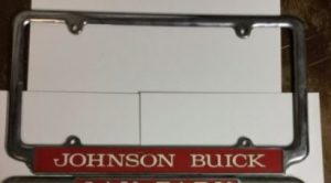 Johnson Buick License Plate Frame