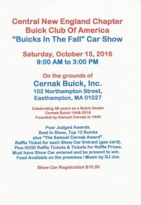 buicks in the fall 2016