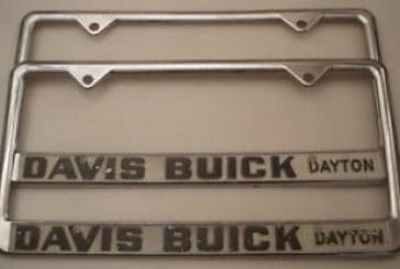 Buick Auto Dealer License Plate Frames