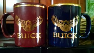 gold buick hawk coffee mugs