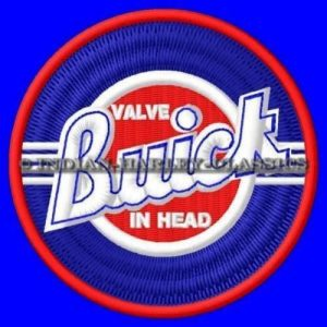 buick valve in head embroidered patch