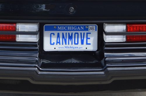can move license plate