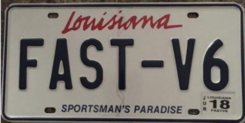 fast v6 plate