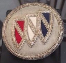 embroidered buick tri shield patch