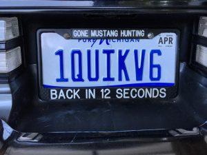 1 quick v6 license plate