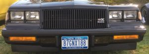 buick gnx 188 plate