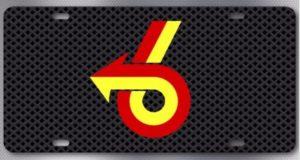 turbo 6 grill design license plate