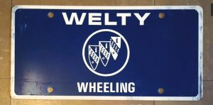 welty buick license plate