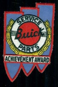 BUICK Service Parts Achievement Award Cloth Sew On Patch