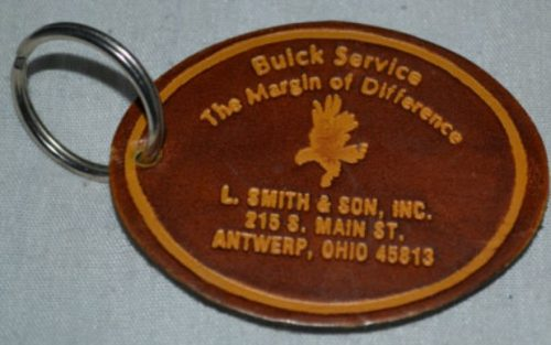 Buick Service Leather Keychain