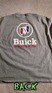 buick trishield going fast with class shirt back