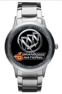 stainless steel buick watch