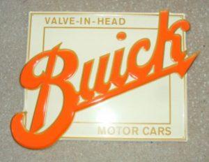 Buick Motor Cars Valve-In-Head embossed metal sign 23x18