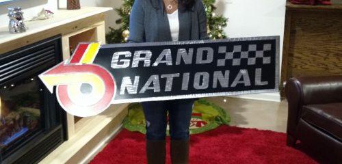 huge metal buick grand national emblem sign