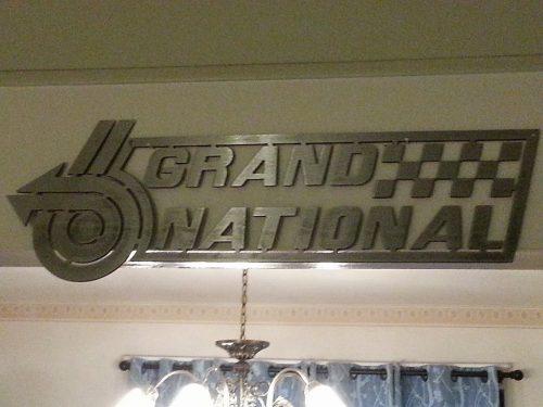metal buick grand national cutout logo sign