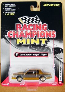 1986 BUICK REGAL T-TYPE 2017 RACING CHAMPIONS GOLD STRIKE RELEASE 1 VERSION -1