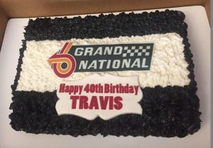 grand national logo birthday cake