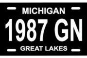 Custom Buick Front License Plate