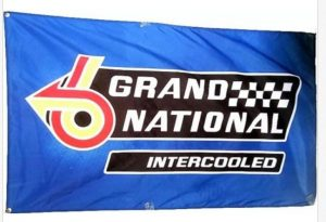 GRAND NATIONAL INTERCOOLED BUICK BADGE FLAG