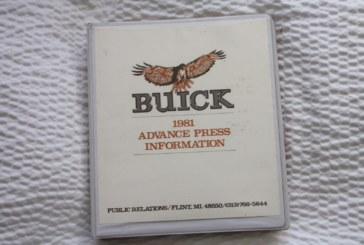 1981 Buick Advance Press Information Kit