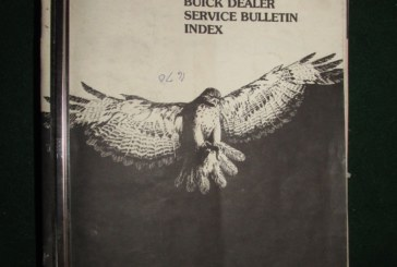 1983 1984 1985 Buick Service Bulletins Book